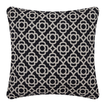 Lorette Outdoor Cushion - 45x45cm - Liquorice