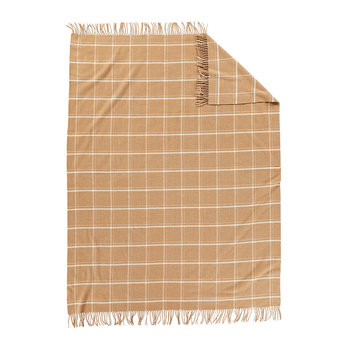 5th Avenue Throw - Camel Windowpane