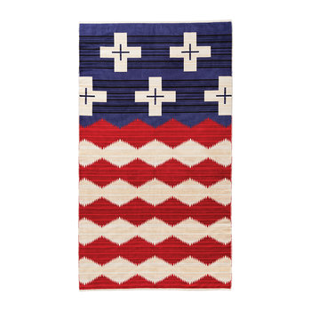 Oversized Jacquard Beach Towel - Brave Star