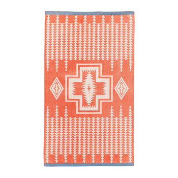 Oversized Jacquard Beach Towel - Harding Coral