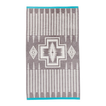 Oversized Jacquard Beach Towel - Harding Grey