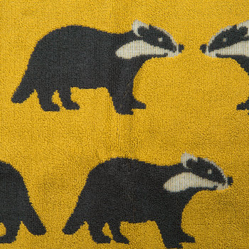 Kissing Badgers Bath Mat