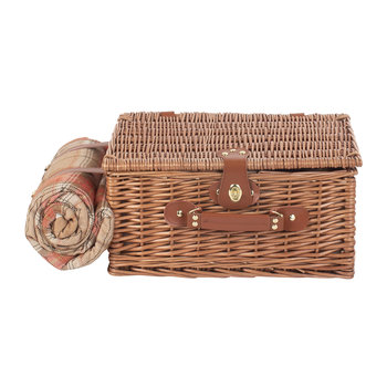 Autumn Red Tartan Hamper - 2 Person