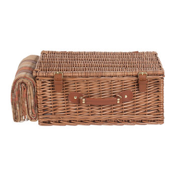 Autumn Red Tartan Hamper - 4 Person