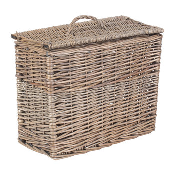 Rectangular Toilet Tidy Lidded Basket
