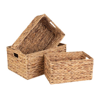 Water Hyacinth Rectangular Storage Set 3 - Set of 3
