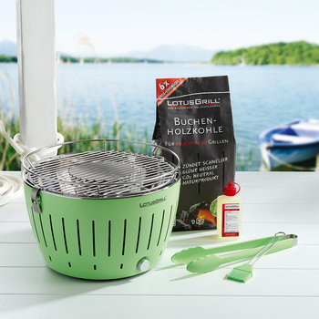 Portable Charcoal Grill - Green