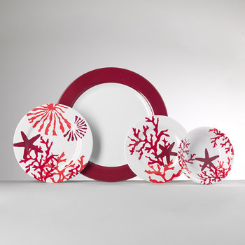 Corallo Plate - Red - Large