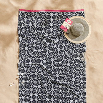 Tile Geo Beach Towel - French Navy