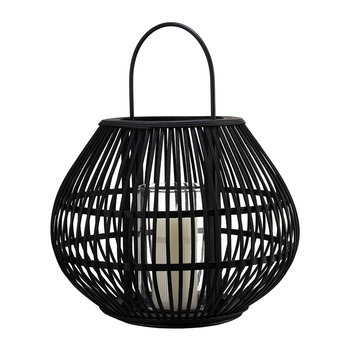 Apple Striped Lantern - Black