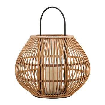 Apple Striped Lantern - Natural