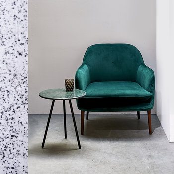 Fauteuil Velours Charmy - Vert