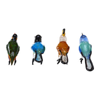 Glass Paradise Birds - Set of 4