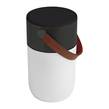 aGlow Bluetooth Speaker - White with Gunmetal Front