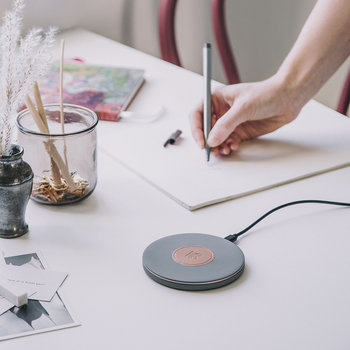 wiCharge Charging Pad - Cool Gray