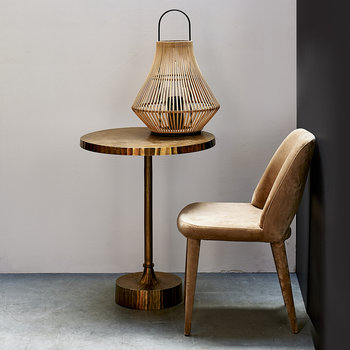 Pear Striped Lantern - Natural