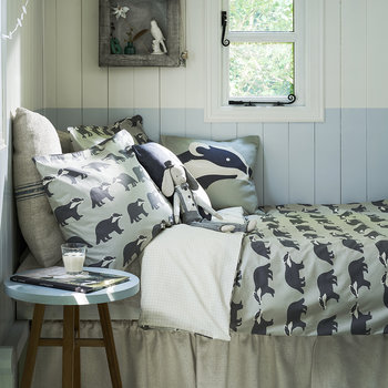 Kissing Badgers Reversible Duvet Set