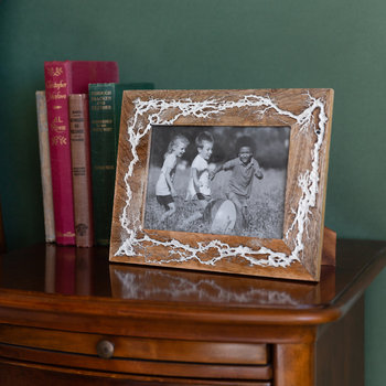 Cracked Wooden Photo Frame - 5x7""
