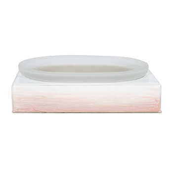Omber Soap Dish - Pink/Silver