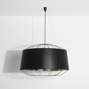 Lanterna Pendant Lamp - Large - Black/Gold