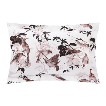 Bird Ramage Bed Set - Rose