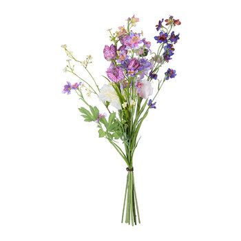 Artificial Ranunculus Bouguet Mix - Lavender/Cream
