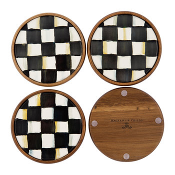 Courtly Check Coasters - Set of Four