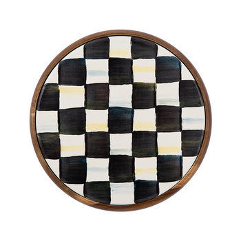 Courtly Check Enamel Trivet