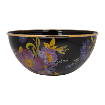 Flower Market Everyday Bowl - Black