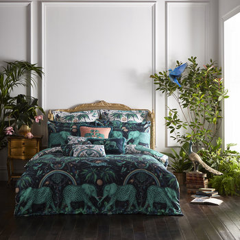 Zambezi Quilt Cover - Teal