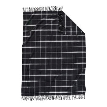 5th Avenue Throw - Black Windowpane