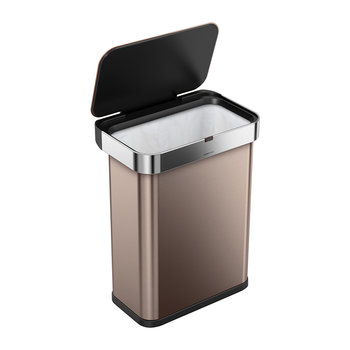 Rectangular Sensor Bin - Rose Gold - 58L