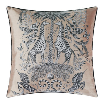 Kruger Jacquard Pillow - Gold - 59x59cm