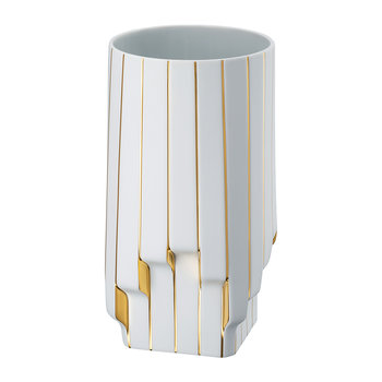 Strip Vase - White Gold