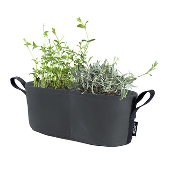 Batyline Window Box Plant Pot - 8L - Black Asphalt