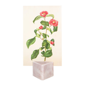 Marble Photo Holder - Pink