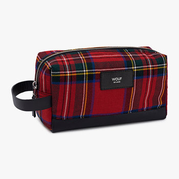 Red Tartan Travel Case