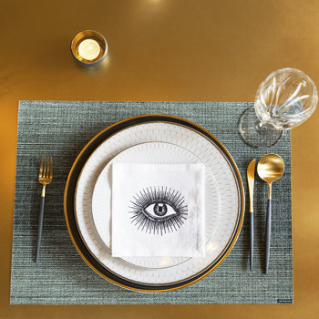 Ombre Rectangle Placemat - Jade