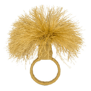 Tassel Napkin Rings - Set of 4 - Gold