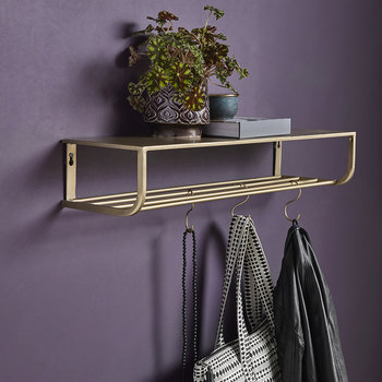 Metal Shelf - Gold