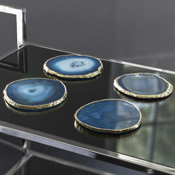 Agate Coasters - Set of 4 - Blue