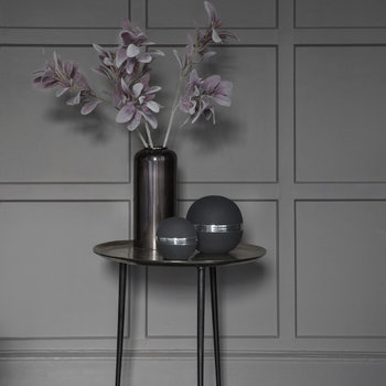 Nickel Plated Black Vase
