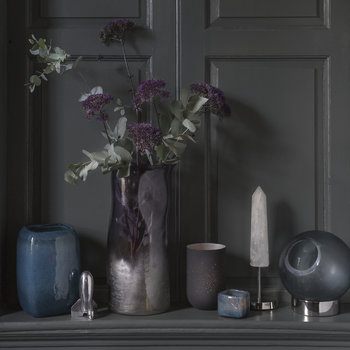 Bubbled Glass Vase - Indigo Blue