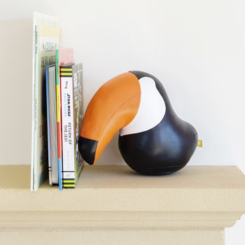 Toucan Toco Bookend - Black & Orange