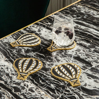 Beaded Hot Air Balloon Coasters - Set of 4