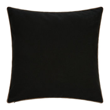 Embroidered Cowhide Pillow - 45x45cm