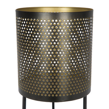 Black & Gold Raised Iron Planter