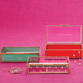 Out Of The Box Glass Jewellery Box - Red