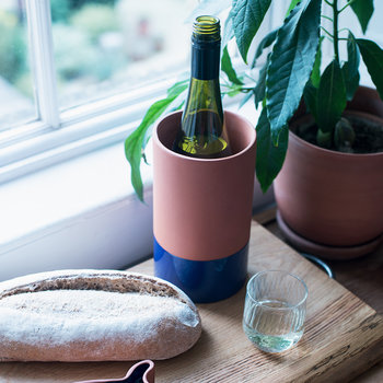 Wine Cooler - Terracotta/Blue