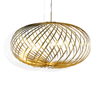 Spring Pendant Light - Brass
